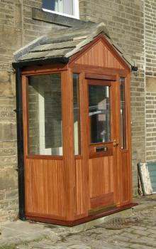 Hardwood Porchway by Abels Joinery Halifax and Huddersfield