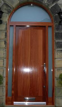 Hardwood Door with Arched Surround by Abels Joinery Halifax and Huddersfield