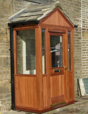 Timber Entrance Porch by Abels Joinery in Halifax and Huddersfield