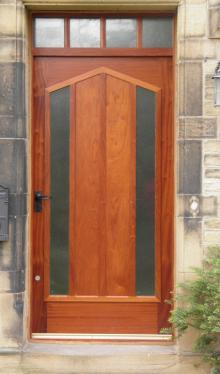 Contenporary Hardwood Door & Surround by Abels Joinery Halifax and Huddersfield