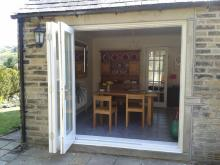 Hardwood Bifolding Patio Doors by Abels Joinery Halifax and Huddersfield